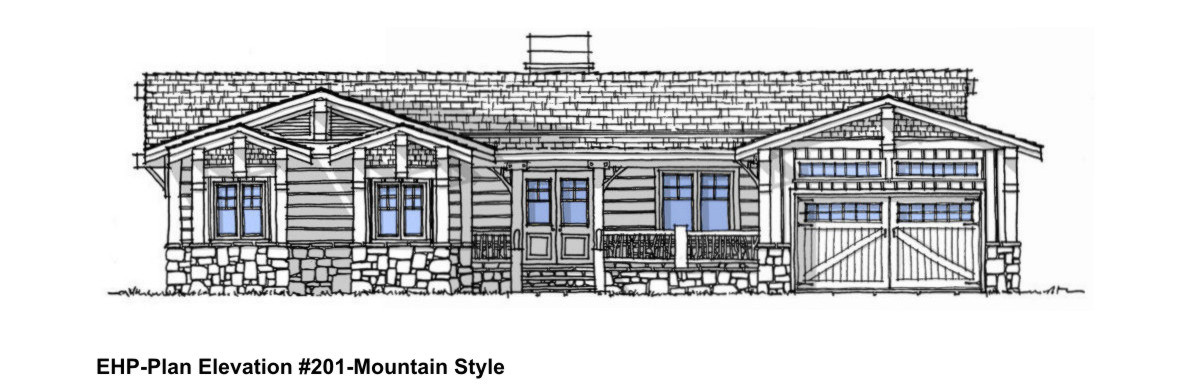 Excellent Home Plans-Stock Home Plan 201-Home Plan Rendering Elevation-Mountain Home Style